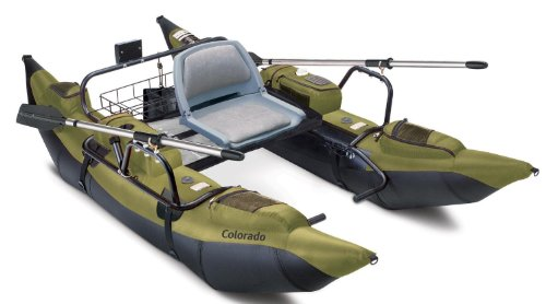 Classic accessories inflatable float tube pontoon boat for Inflatable fishing pontoon